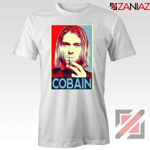 Kurt Cobain Singer Legend White Tshirt
