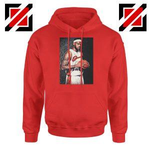 Lebron James Baseball Art Best Red Hoodie
