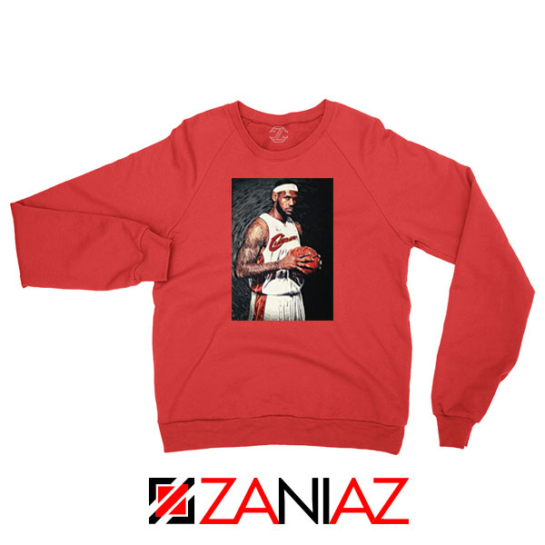 Lebron James Baseball Art Best Red Sweatshirt