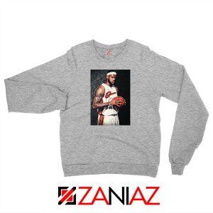 Lebron James Baseball Art Best Sport Grey Sweatshirt
