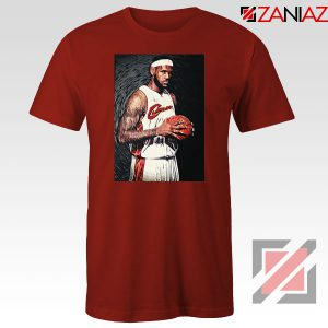 Lebron James Baseball Art Nice Red Tshirt