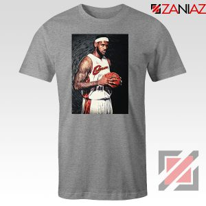 Lebron James Baseball Art Nice Sport Grey Tshirt