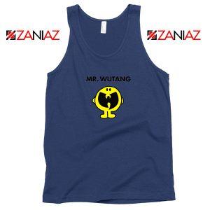 Mr Wutang American Hip Hop Navy Blue Tank Top