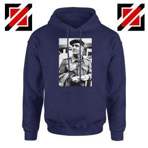 New Elvis Presley US Army Best Navy Blue Hoodie