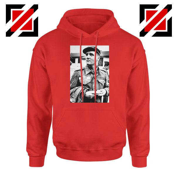 New Elvis Presley US Army Best Red Hoodie