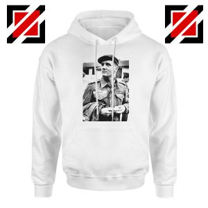New Elvis Presley US Army Best White Hoodie