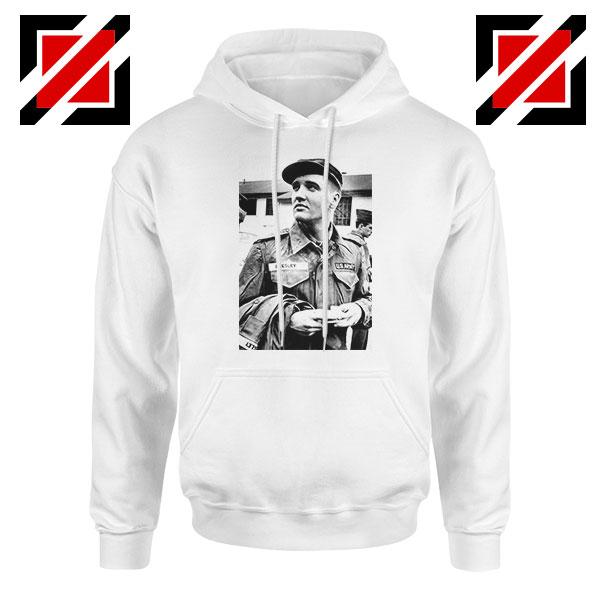 New Elvis Presley US Army Best White Hoodie