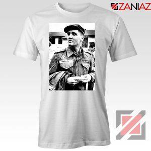New Elvis Presley US Army Design White Tshirt