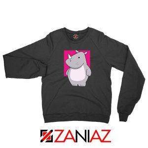 Team Building Rhino Mascot Black Sweatshirt