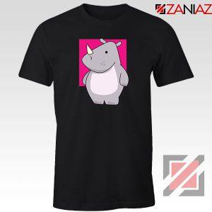 Team Building Rhino Mascot Black Tshirt