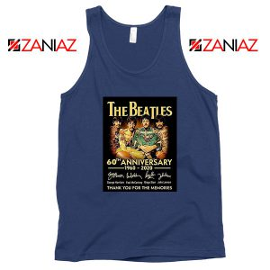 The Beatles Band 60th Anniversary Navy Blue Tank Top