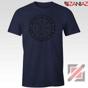 Vegvisir Compass Magical Stave Navy Blue Tshirt