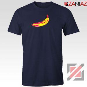 Andy Warhol Banana Art Navy Blue Tshirt