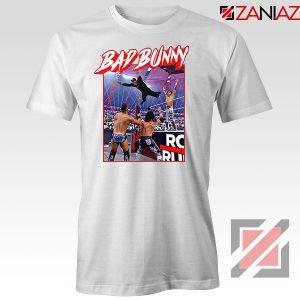 Bad Bunny Rapper Vintage WWE White Tshirt