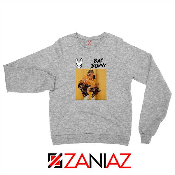 Bad Bunny Yellow Rap Grey Sweatshirt