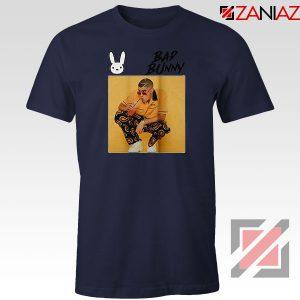 Bad Bunny Yellow Rap Navy Blue Tshirt