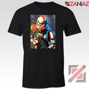 Captain Phasma Shiny Stormtrooper Black Tshirt