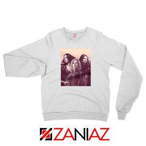 Girl Power Marvel Female White Sweatshirt