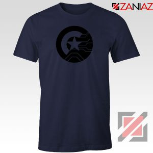 Half Shield of Sam and Bucky Navy Blue Tshirt