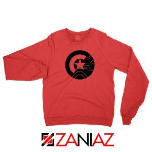Half Shield of Sam and Bucky Red Sweatshirt