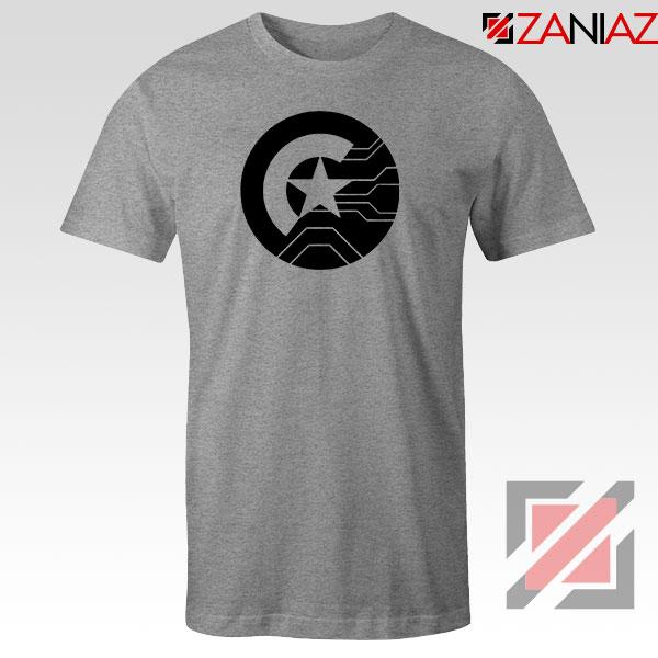 Half Shield of Sam and Bucky Sport Grey Tshirt