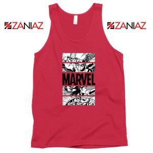 Marvel Superhero Panels Red Tank Top