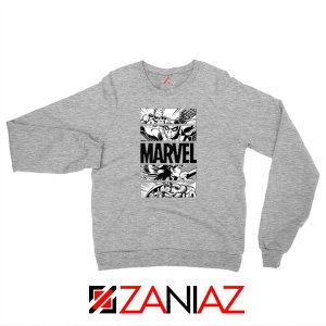 Marvel Superhero Panels Sport Grey Sweatshirt