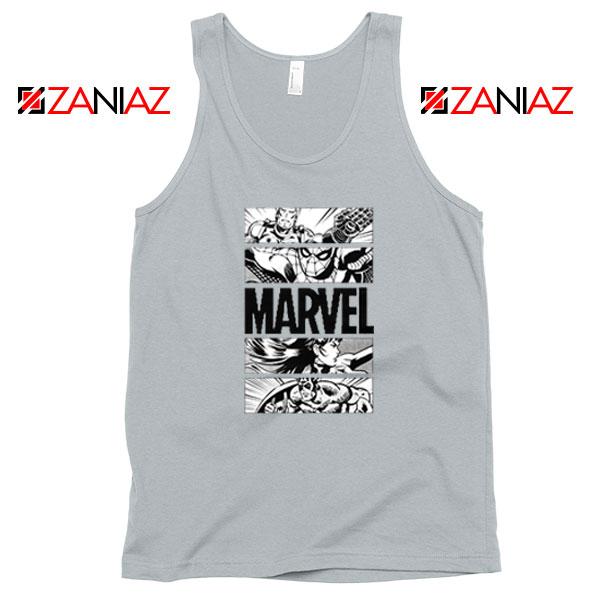 Marvel Superhero Panels Sport Grey Tank Top