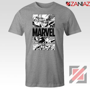 Marvel Superhero Panels Sport Grey Tshirt