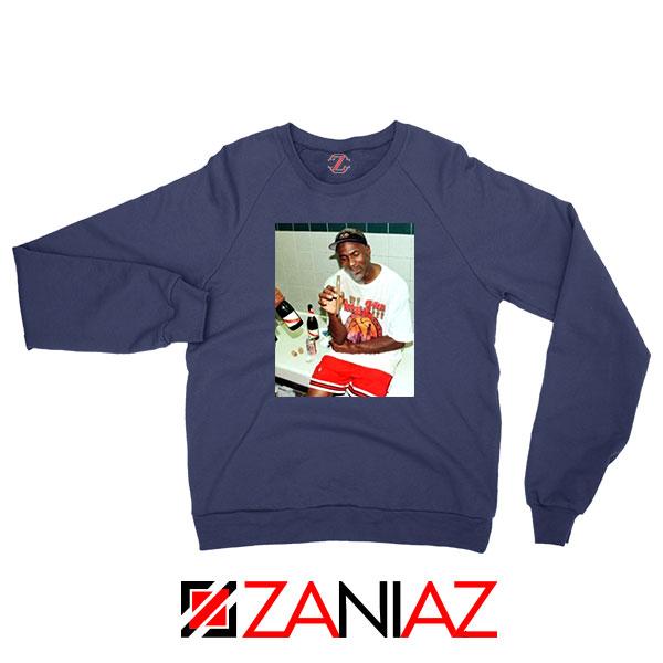 Michael Jordan Cigar 3 Peat Navy Blue Sweatshirt