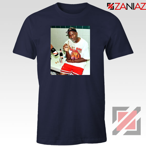 Michael Jordan Cigar 3 Peat Navy Blue Tshirt