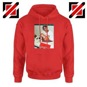 Michael Jordan Cigar 3 Peat Red Hoodie