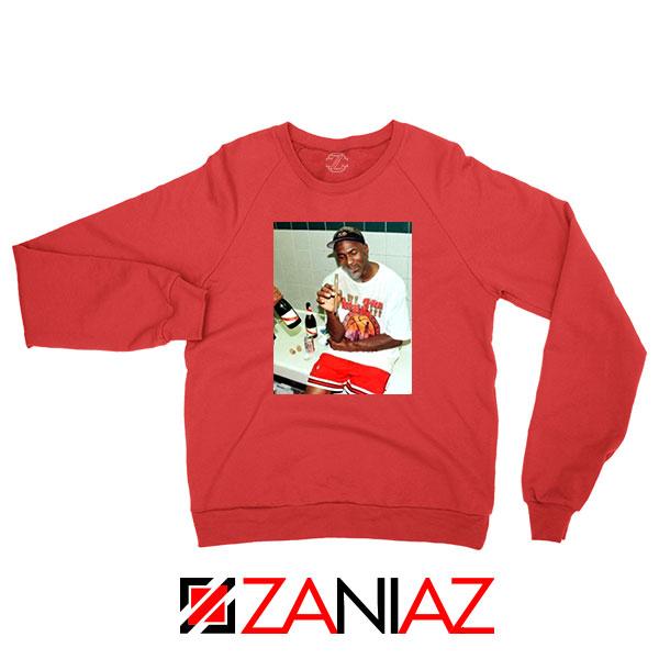 Michael Jordan Cigar 3 Peat Red Sweatshirt