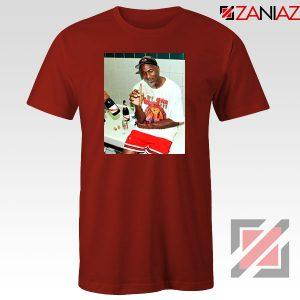 Michael Jordan Cigar 3 Peat Red Tshirt