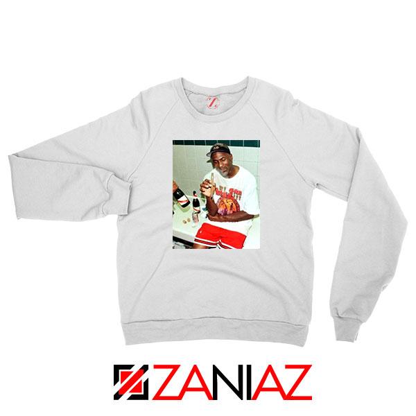 Michael Jordan Cigar 3 Peat White Sweatshirt