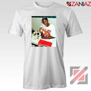 Michael Jordan Cigar 3 Peat White Tshirt