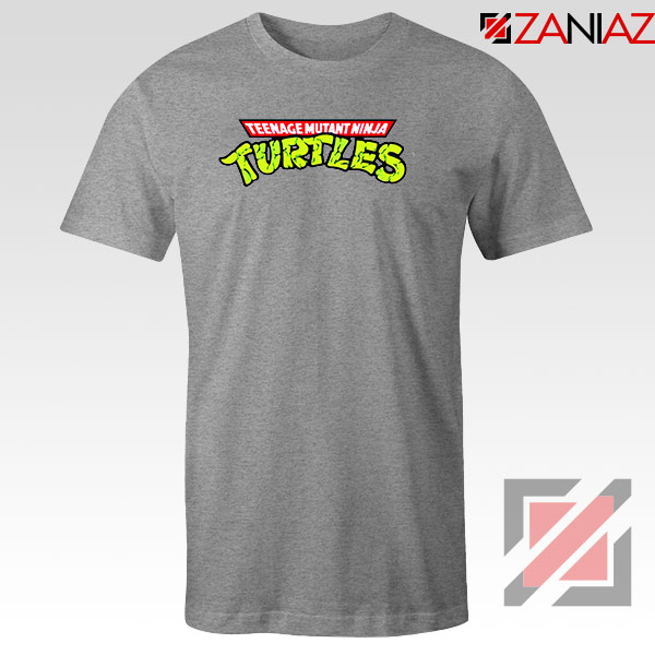 New Ninja Turtles Logo Sport Grey Tshirt