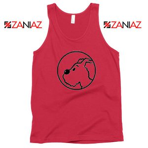 Snowy Tintin Character Red Tank Top