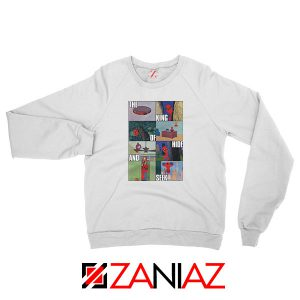 Superhero King of Hide And Seek White Sweatshirt