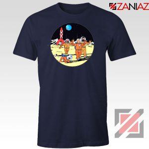 Tintin Space Adventure Navy Blue Tshirt