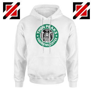 Twin Peaks Damn Fine Coffee White Hoodie