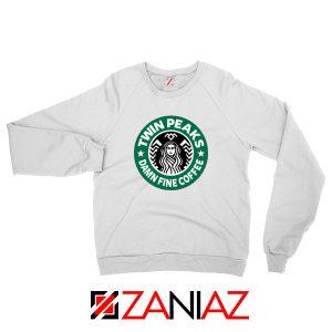 Twin Peaks Damn Fine Coffee White Sweatshirt