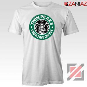 Twin Peaks Damn Fine Coffee White Tshirt