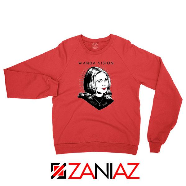 WandaVision Superhero Pop Art Red Sweatshirt