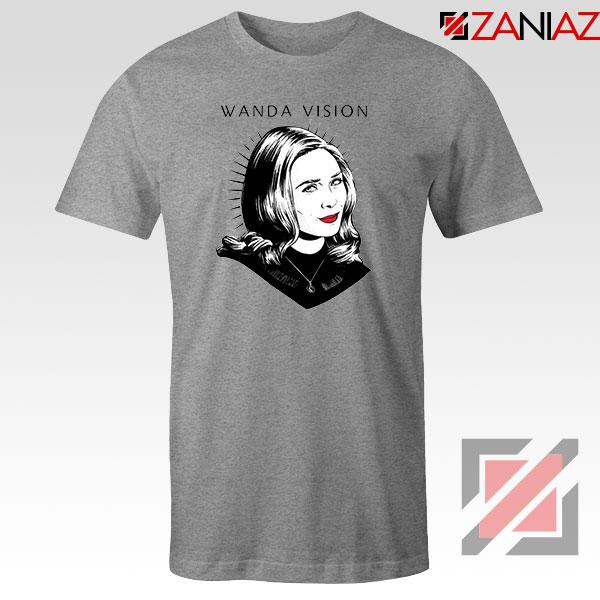 WandaVision Superhero Pop Art Sport Grey Tshirt