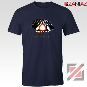 Daft Punk Electronic Music Duo Navy Blue Tshirt