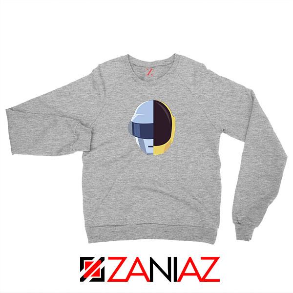 Daft Punk Music Helmet Grey Sweatshirt