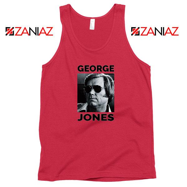 George Jones Gospel Music Photo Red Tank Top