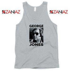 George Jones Gospel Music Photo Sport Grey Tank Top