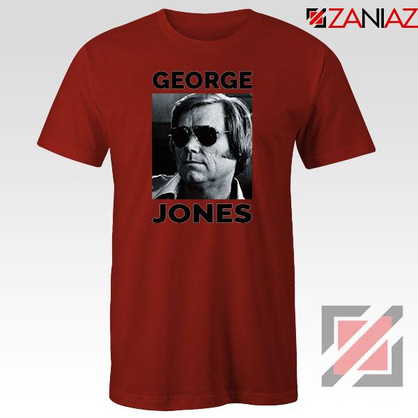 George Jones Photo Musician Red Tshirt